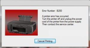 Fix Canon B200 Error