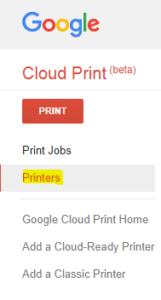 Google cloud print apk