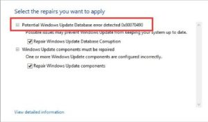 Potential Windows Update error fix