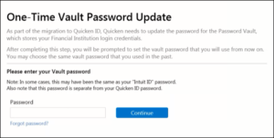 How to create Quicken id