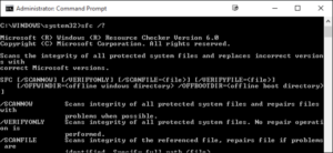 Windows System File Checker