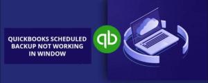 QuickBooks scheduled backup