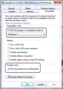 QuickBooks backup not working windows 10