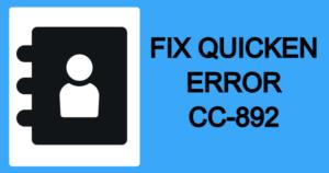 Quicken Error CC-892