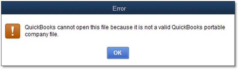 quickbooks won't open company file