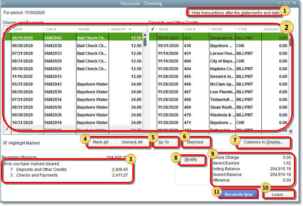 beginning balance in quickbooks reconciliation is wrong