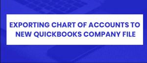 Chart of Accounts QUickbooks