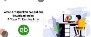 Quicken Capital One error