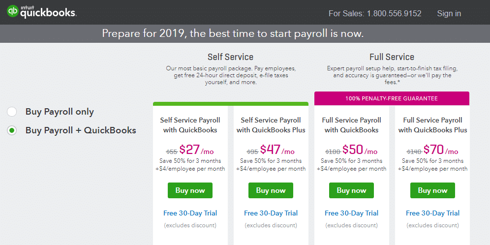 Intuit Payroll Service