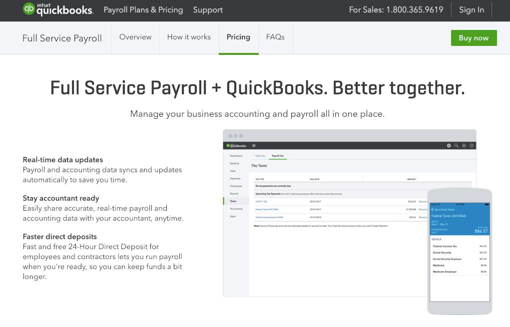 Quickbooks Full Service Payroll