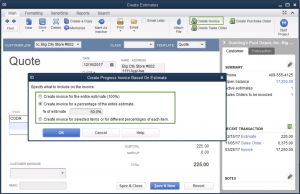 create invoice in quickbooks