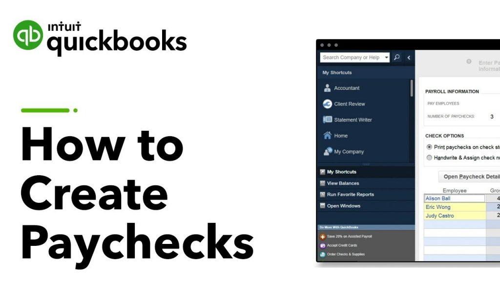 quickbooks paycheck