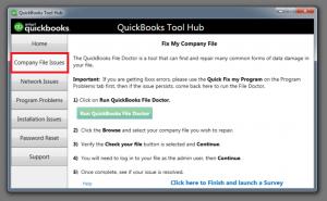 Qb Tool Hub Company File issues