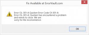 Quicken Error Code OL-301-A